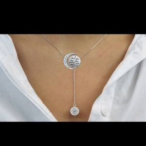 """Engraved """"To the Moon and Back"""" Necklace"""